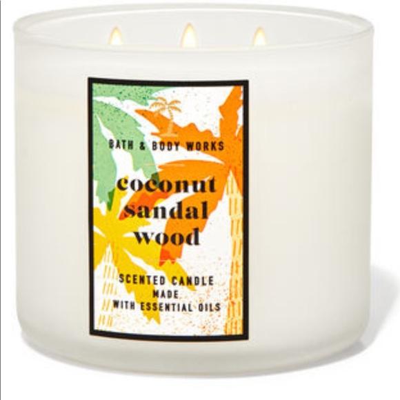 Bath and Body Works Coconut Sandalwood Candle NWT